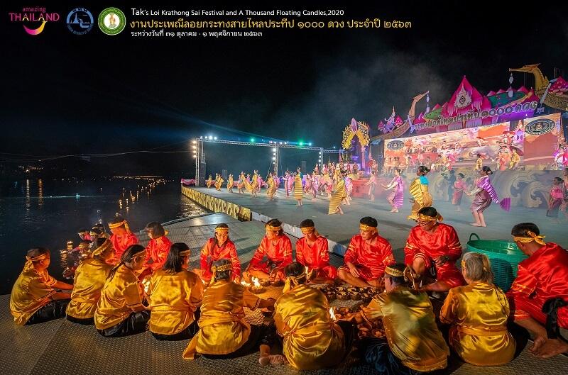 達府(Tak)獨特的Loi Krathong Sai水燈節