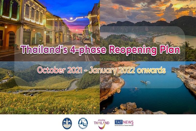 泰國 CCSA 批准從 10 月至 1 月的 4 階段重新開放計劃