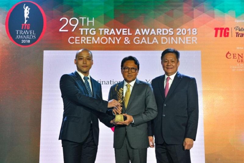"""泰國贏得2018年TTG亞洲旅遊獎之""""年度最佳景點"""""""